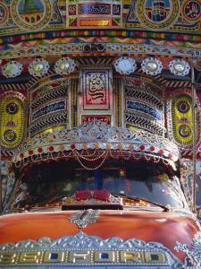 Decorated Bedford Van, Gilgit, Pakistan by Poole David