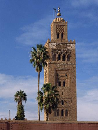 Koutoubia Minaret and Mosque, Marrakesh, Morocco, North Africa, Africa