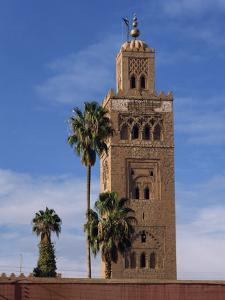 Koutoubia Minaret and Mosque, Marrakesh, Morocco, North Africa, Africa by Poole David