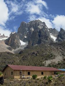 Mount Kenya and the Peaks of Nelion on the Left and Batian on Right, Kenya, East Africa by Poole David