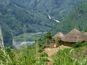 Native Huts in a Valley Near Uriva, Zaire, Africa by Poole David