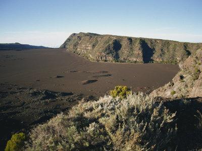 View over the Volcanic Plaine Des Sables, Piton De La Fournaise, Reunion, Indian Ocean, Africa