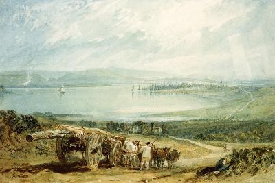 Poole, Dorset with Corfe Castle in the Distance-J^ M^ W^ Turner-Giclee Print