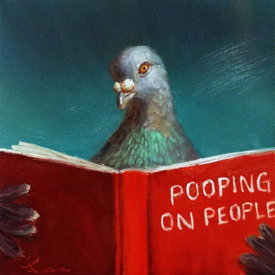 Pooping on People-Lucia Heffernan-Art Print