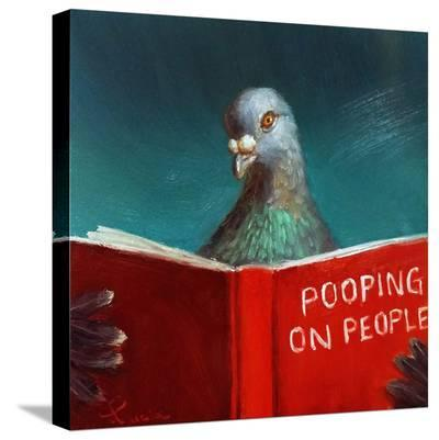 Pooping on People-Lucia Heffernan-Stretched Canvas Print