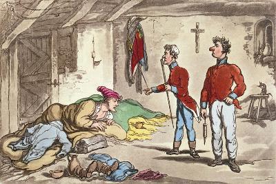 Poor Johnny on the Sick List-Thomas Rowlandson-Giclee Print