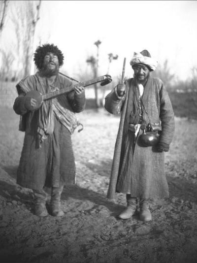 Poor Uyghur Musicians - Kashgar--Photographic Print
