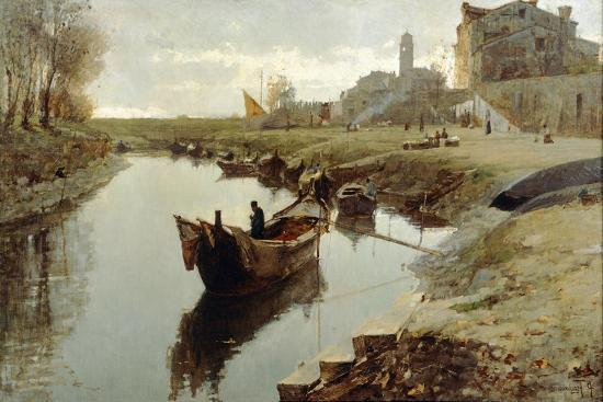 Poor Venice, 1882-1883-Pietro Fragiacomo-Giclee Print