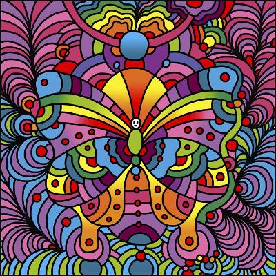 Pop Art Butterfly-Howie Green-Giclee Print