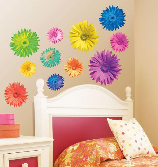 Pop Art Daisies Wall Decal by Anthony Matos | Art.com