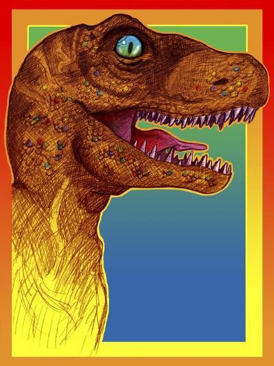 Pop Art Dinosaur 3-Howie Green-Giclee Print