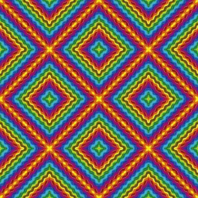 Pop Art Disco Pattern-Sangoiri-Art Print