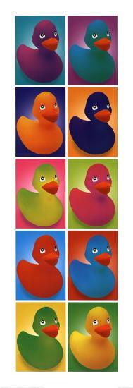 Pop Art Ducks--Art Print