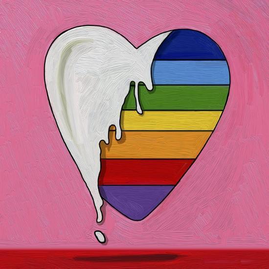 Pop Art Heart Drip-Howie Green-Giclee Print