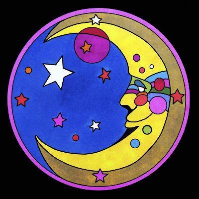 Pop Art Moon Circle-Howie Green-Giclee Print