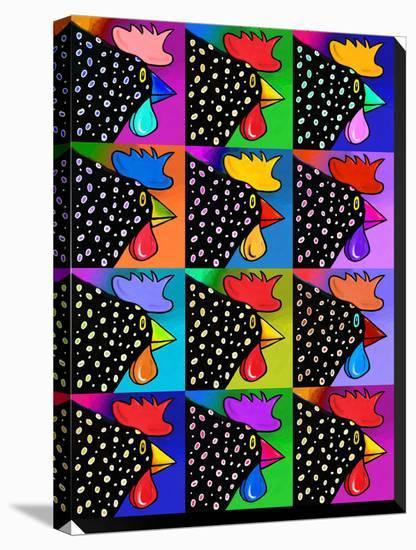 Pop Art Rooster-Howie Green-Stretched Canvas Print