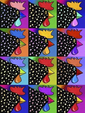 Pop Art Rooster-Howie Green-Giclee Print