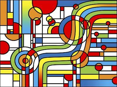 Pop Art Stripes Curve-Howie Green-Giclee Print
