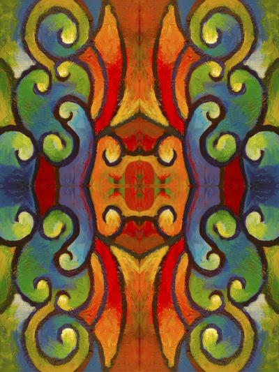 Pop Art Swirls-Howie Green-Giclee Print