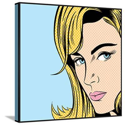 Pop Art Woman--Stretched Canvas Print