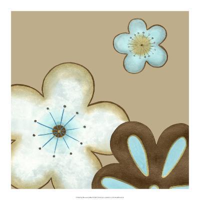 Pop Blossoms in Blue I-Erica J^ Vess-Art Print
