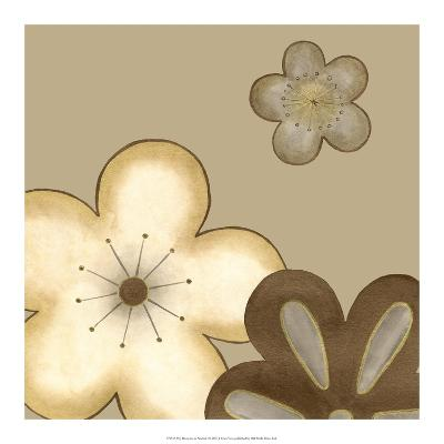 Pop Blossoms in Neutral I-Erica J^ Vess-Art Print