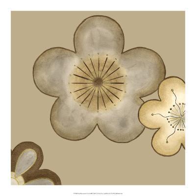 Pop Blossoms in Neutral II-Erica J^ Vess-Art Print