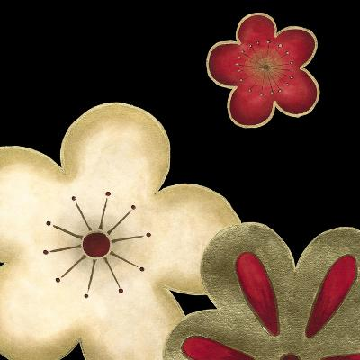 Pop Blossoms in Red I-Erica J^ Vess-Art Print