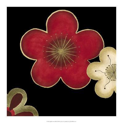 Pop Blossoms in Red II-Erica J^ Vess-Art Print