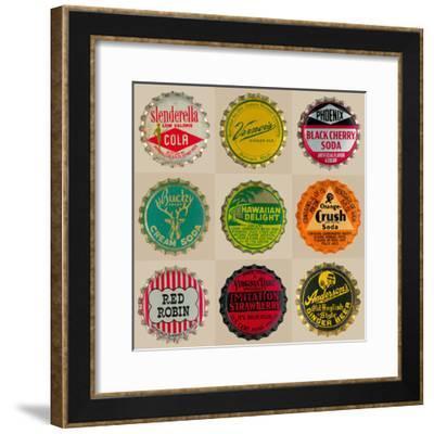 Pop Bottletops II-The Vintage Collection-Framed Giclee Print