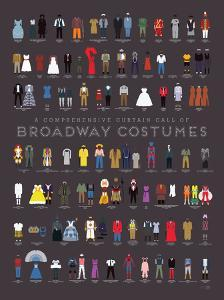 A Comprehensive Curtain Call of Broadway Costumes by Pop Chart Lab