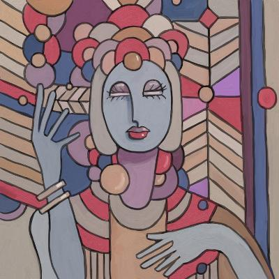 Pop Deco Lady 512-Howie Green-Giclee Print