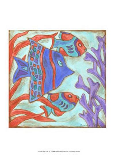 Pop Fish IV-Nancy Slocum-Art Print