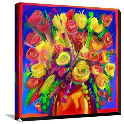 Pop Flowers 215-Howie Green-Stretched Canvas Print