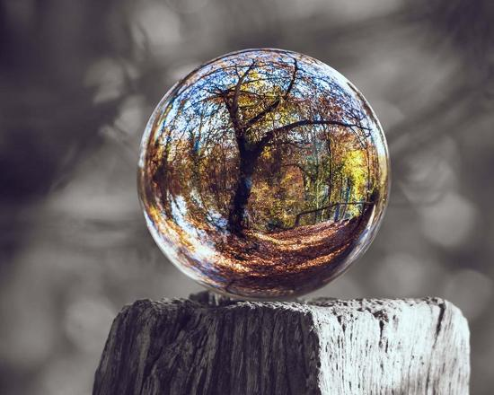 Pop of Color Glass Sphere-Color Me Happy-Art Print