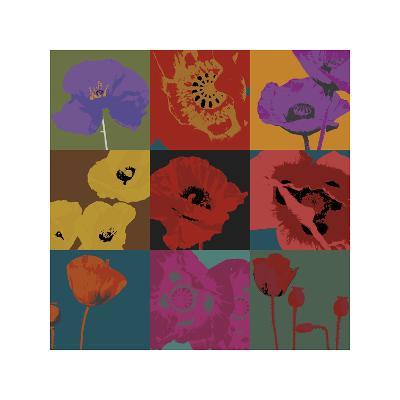 Pop Poppies-Don Li-Leger-Giclee Print
