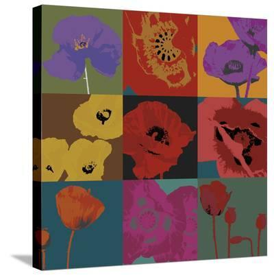 Pop Poppies-Don Li-Leger-Stretched Canvas Print
