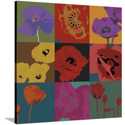 Pop Poppies-Don Li-Leger-Stretched Canvas Print