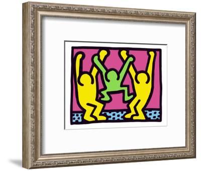 Pop Shop (Family)-Keith Haring-Framed Art Print