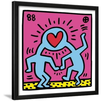 Pop Shop (Heart)-Keith Haring-Framed Giclee Print