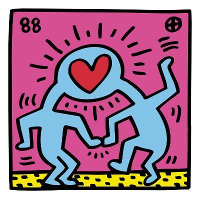 Pop Shop (Heart)-Keith Haring-Giclee Print