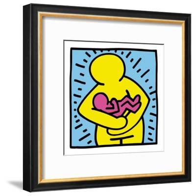 Pop Shop (Mother and Baby)-Keith Haring-Framed Art Print
