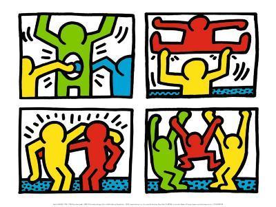 Pop Shop Quad I, c.1987-Keith Haring-Art Print