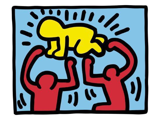 Pop Shop (Radiant Baby)-Keith Haring-Art Print