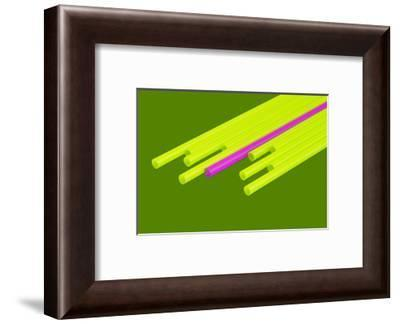 Pop Straws Collection - Green & Pink-Philippe Hugonnard-Framed Photographic Print