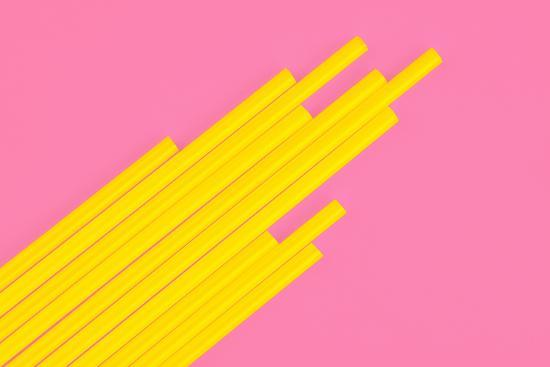 Pop Straws Collection - Light Pink & Yellow-Philippe Hugonnard-Photographic Print