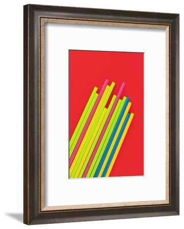 Pop Straws Collection - Red & Colourful-Philippe Hugonnard-Framed Photographic Print