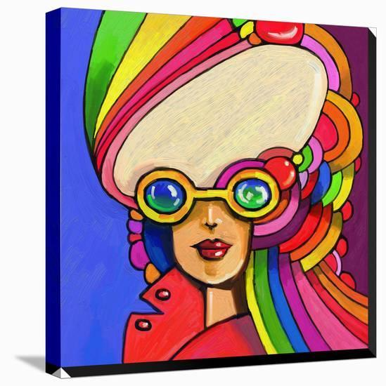 Pop Sunglasses Lady-Howie Green-Stretched Canvas Print