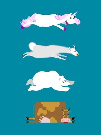 Sleeping Animals Set 3. Unicorn and Polar Bear. Cow and Llama. Wild Animal Sleeps. Sleepy Beast