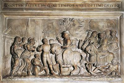 Pope Adrian VI's Entering Rome in 1522, Bas-Relief, Italy, 16th Century--Giclee Print